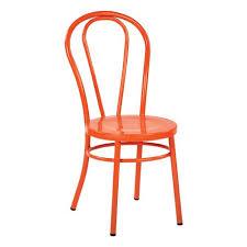office star s odessa orange metal dining chair set of 2