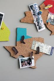 View in gallery State-shaped cork boards