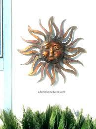 sun moon garden sun and moon garden decor lovely sun wall decor outdoor patio wall art