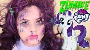 zombie my little pony rarity makeup tutorial equestria doll cosplay kittiesmama