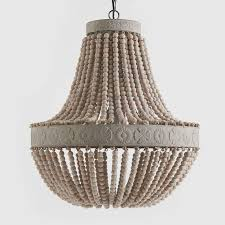 fabulous beaded chandelier lighting iron frame wood wooden beads chandelier lights large fixture ideas