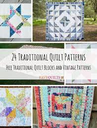 24 Traditional Quilt Patterns: Free Traditional Quilt Blocks and ... & 24 Traditional Quilt Patterns Free Traditional Quilt Blocks and Vintage  Patterns Adamdwight.com