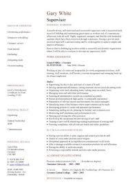 Supervisor Resume Templates Inspiration Supervisor Resume Template Pic Supervisor Cv Template Cv Sample