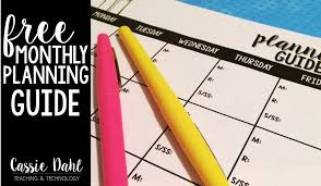 monthly planning guide monthly planning guide freebie cassie dahl teaching technology