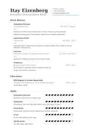 3d Animator Resumes 3d Animator 3 Resume Format Sample Resume Resume Resume Format