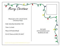 printable christmas invitations printable christmas invitation postcards