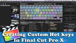 Creating Custom Keyboard Shortcut For Final Cut Pro X
