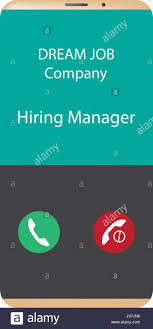 Calling For A Job Dream Job Company Hiring Manager Calling Accept Or Reject