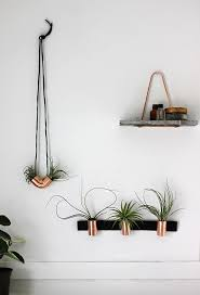 industrial style copper airplant diy