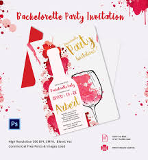 bachelorette invitation psd vector eps ai elegant bachelorette party invitation template
