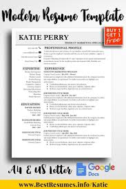 Resume Template Katie Perry Resume Design Template Resume Design