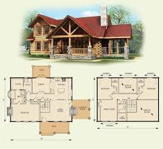 best 4 bedroom log cabin house plans