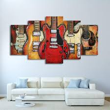 abstract guitar canvas wall art home decor for living room modern still life pictures 5  on guitar canvas wall art red with abstract guitar canvas wall art home decor for living room modern