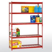 z beam boltless steel shelving with wire shelves