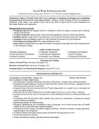 Resume For Social Worker Resume Templates