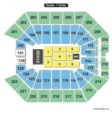 Golden 1 Stage Seating Chart Golden 1 Center Sacramento Ca Seating Chart View