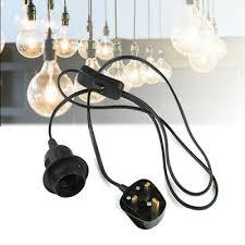 e27 plug in hanging pendant light