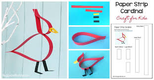 Free Craft Printables Templates Paper Strip Cardinal Craft For Kids With Free Template