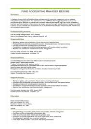 Sample Resume For Accounting Manager Sample Fund Accounting Manager Resume