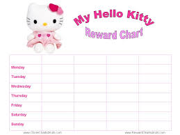weekly reward chart printable hello kitty reward charts