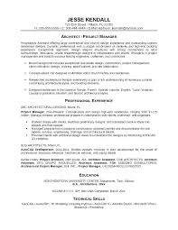 Writing A Resume Examples Fascinating Architectural Resume Examples Architect Resume Sample Interior