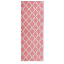 ottomanson glamour collection contemporary moroccan trellis design pink 2 ft x 5 ft runner