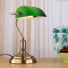 loft vintage table light edison desk lamp green cover table light for cafe bar bedroom
