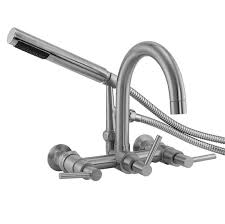clawfoot tub faucet with handshower