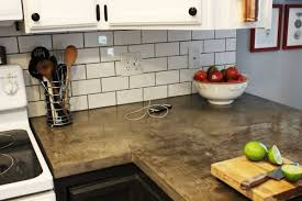 white tile kitchen countertops. Brilliant White Subway Tiles With Concrete Kitchen Countertop For White Tile Kitchen Countertops P