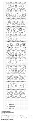 four seasons blackwork band sampler kincavel krosses four seasons blackwork band sampler
