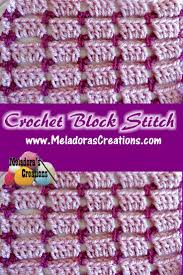 Block Stitch Crochet Pattern Custom Decorating