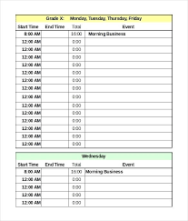 plan daily schedule template daily activity schedule template
