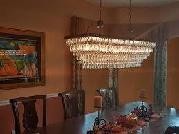 the weston 40 inch rectangular glass drop crystal chandelier antique copper com