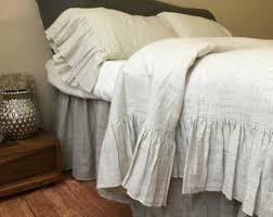 white rustic chic bedding
