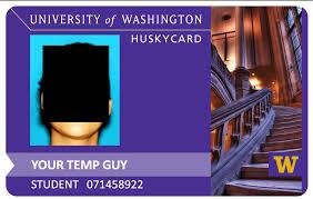 Free Washington Of Templates Documents University Id