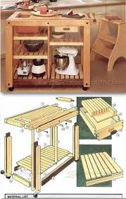 kitchen furniture plans. Kitchen Work Table Plans - Furniture And Projects E