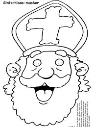 Kleurplaat Zwarte Piet Alleen Hoofd Kleurplaat Zwarte Piet En