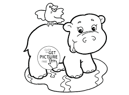 Hippo Color Hippo Coloring Page Hippopotamus Coloring Page Baby