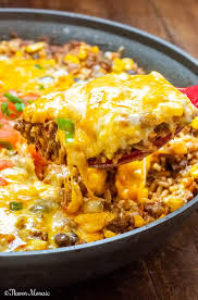 mexican beef and rice cerole