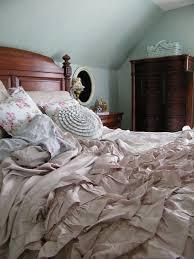 bedtime ruffles comfy bedroom pretty