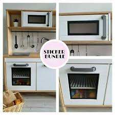 play kitchen oven and microwave edging