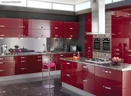 Light Brown Natural Tone Laminated Wooden Floor Under Cabinet Kitchen Interior Colors