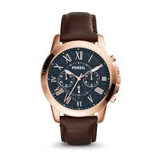men s grant chronograph brown leather watch style fs5068