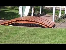 how to build a arched garden bridge