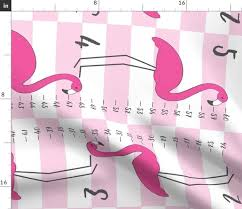 Growth Chart Design Fabric By The Yard Flamingo Growth Chart