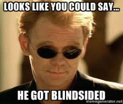 Looks like you could say... He got Blindsided - Horatio Caine ... via Relatably.com