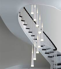 details about modern led spiral ceiling light chandelier stairway led pendant light stair lamp