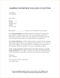 Elegant Follow Up Interview Letter Letter