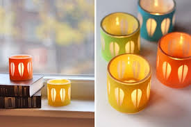 diy gold candle holders