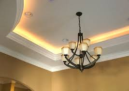 tray ceiling with rope lighting basement tray ceilings rope lighting and ceilings